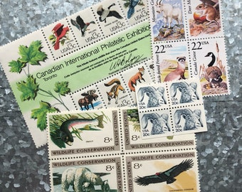 The Fauna Collection// Unused Postage Stamps/ Mouse/ Canadian Goose/ Ram/ /Conservation