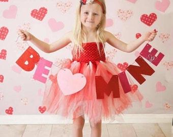 Valentines red dress-red flower girl dress-white red valentined tutu-red white tutu dress-red tutu dress-birthday dress-white tutu-red tulle