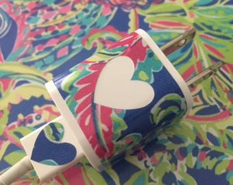 Lilly Pulitzer Inspired Apple, Iphone, Ipad, Ipod Charger Skin Decal