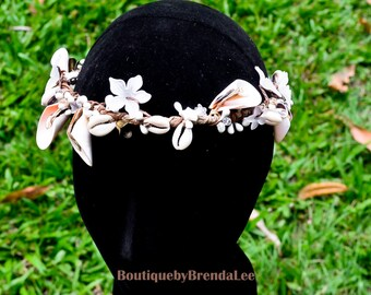 Handcrafted Natural Shell Crown