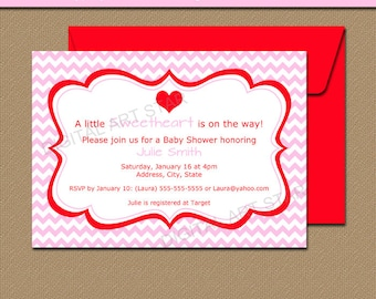Downloadable Valentines Day Invitation - EDITABLE Valentine Party Invitation - Printable Valentines Day Baby Shower Invitation Template V1