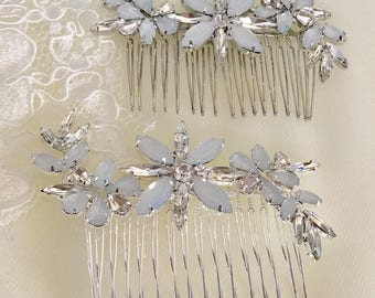 Bridal Headpiece ,Bridal Hair Comb, Wedding Hair Comb, Crystal Hair Comb, Silvet Bridal Hair Comb,