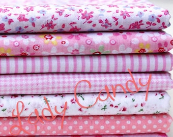 7 coupons fabric Betsy 25 x 25 cm Patchwork flower Roses flowers sewing #7133 tones