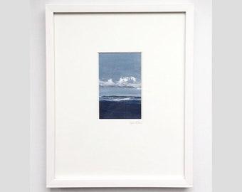 "framed 15x12 ""atlantic blues"""
