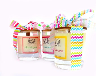 Thank you gift scented soy candle, appreciation gifts, thank you gift for friend, thank you gifts for women, unique thank you gifts for her