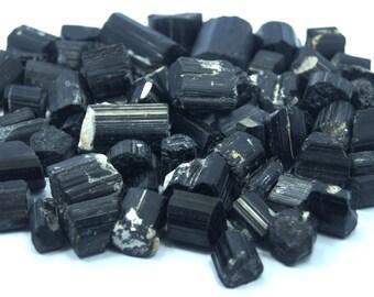 Wow Beautiful Black Tourmaline Natural Crystals 450 Grams