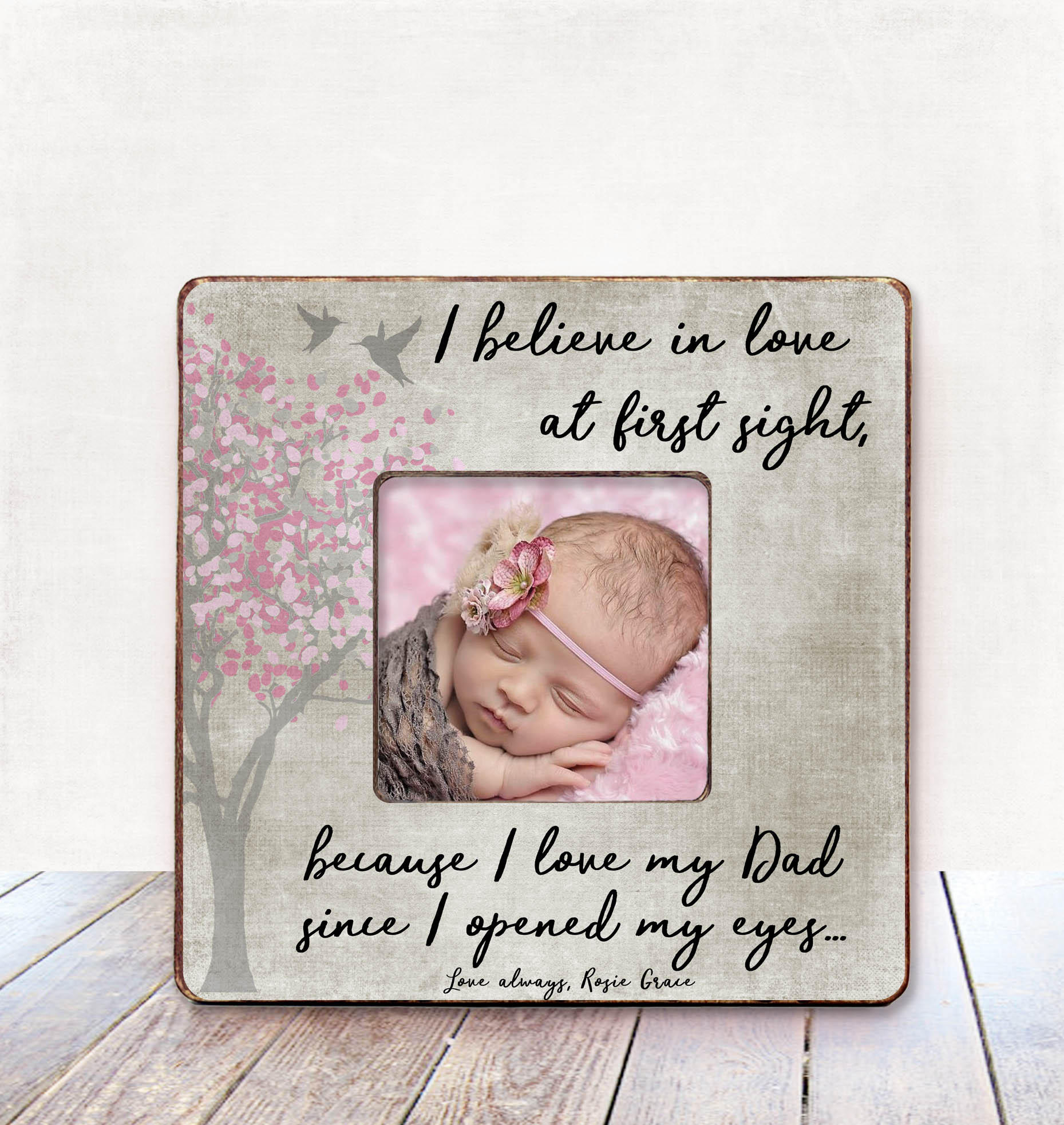 Father Daughter Dad Gift from Daughter gift for Dad Frame Daddy Gift ...