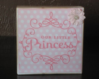 Baby Girl Nursery Word Block Baby Gift Nursery Decor Shower Gift Family
