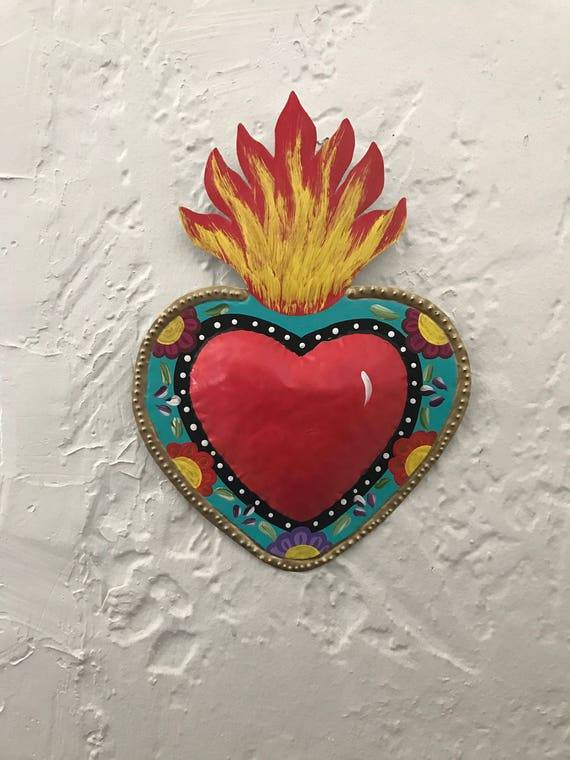 Fiesta boda signo sagrado corazón arte mexicano grande