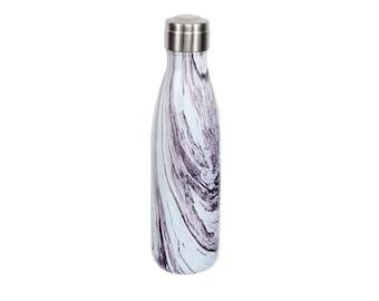 Aqua Marble Stainless Steel Water Bottle, Marble Swirl Water Bottle, Eco-Friendly Water Bottle, Custom Water Bottle, Sports Water Bottle