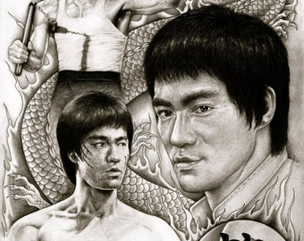 Bruce Lee - A3 Size Poster Print