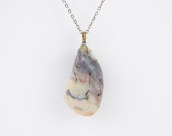 Moss agate pendant-Natural Stone Pendant Necklace-Vintage pendant-Pendant Jevelri