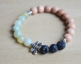 Serpentine Bracelet / save the bees, queen bee jewelry, prosperity abundance bracelet, serpentine stone, heart chakra yoga, group 6,group 10
