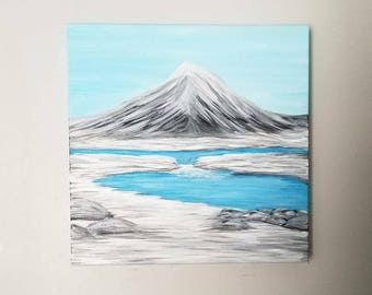 12x12 Serene Winter Wonderland - Original Acrylic Painting - Gallery Wrapped Canvas - Ready to Hang