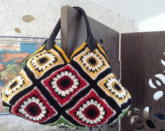 """All the colors of autumn"" Granny Bag"