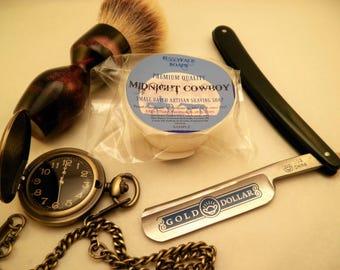 MIDNIGHT COWBOY Premium Quality Artisan Shaving Soap - SAMPLE