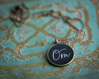 Om Necklace - Yoga Jewelry - Glossy Resin Charm