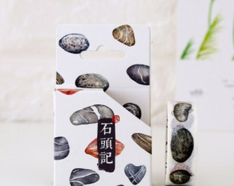 Stones Washi Tape Masking Tape Planner Stickers Scrapbooking Stickers