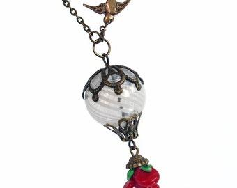 Love's Light Wings - Hot Air Balloon Necklace Handmade Jewelry Jewellery