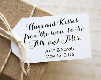 Wedding Favor Tags - Engagement Tags - Rehearsal Dinner Tags - Future Mr and Mrs - Party Favor Tags - LARGE
