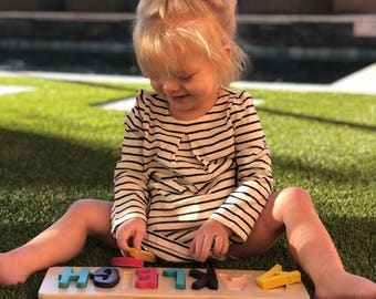Wooden Toddler Name Puzzle - up to 9 letters