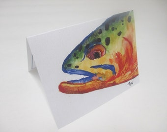 "Catch and Release  Spotted Trout Card- Blank inside 5.5"" x 4.25"""