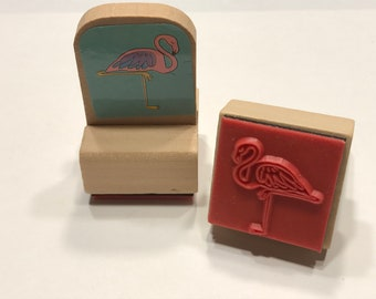 Flamingo rubber stamps, 22 mm (BB4/12)