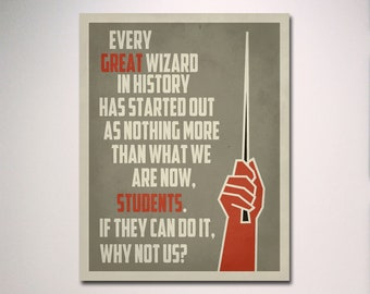 Harry Potter Poster / Inspirational Classroom Poster / Harry Potter Quote Poster / Teacher Gift / Classroom Poster / Every Great Wizard