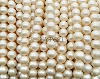 AA+ 8-9mm diy round pearl strands,loose pearls,white freshwater pearl,loose beads,pearl necklace,YSNRD-2A-8-RD-20