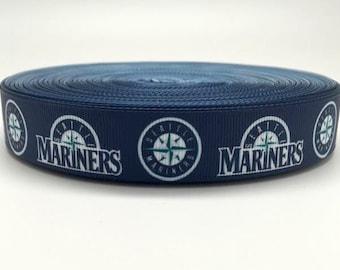 7/8 Seattle Mariners Grosgrain Ribbon
