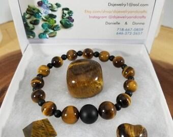 Gemstone Vibe packs/healing crystals/healing gemstones/Tigers eye
