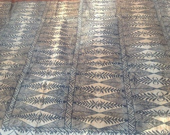 """Authentic Polynesian Tapa Cloth Piece. Hand Painted Tapa Cloth. For Any Polynesian Costumes, Art! YOU WILL RECEIVE A 12"""" X 60"""" Inches Only!"""