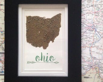 Ohio Dirt Map-Athens- Ohio University(NO HEART)