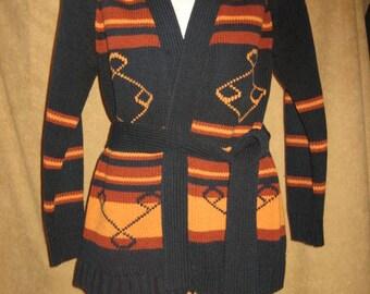 70s Acrylic Sweater Wrap Style Vintage