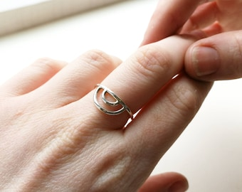 Sterling Silver Rainbow Ring | Minimalist Ring | Eco Friendly Jewellery