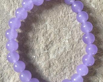Purple Alexandrite 8mm semi precious gemstone bracelet