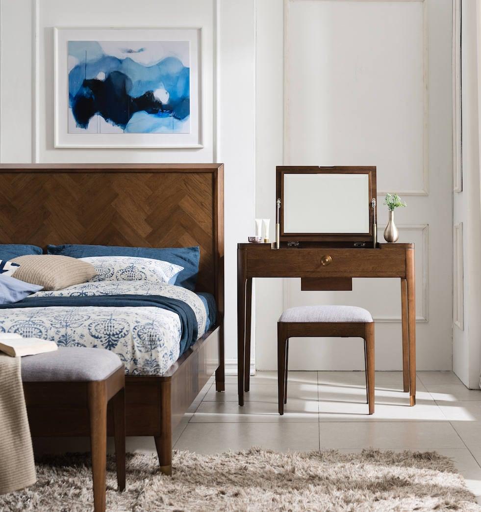 Walnut Mid Century Vanity, Mid Century Mini Table, Dressing Table, Mid  Century Dresser   Bella Collection   Ekais