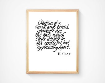 Hand-lettered Henry Clay Quote Printable