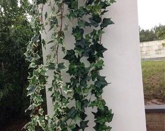 Green Artificial Flower Ivy Leaf  Garland Wedding Greenery 1.8M
