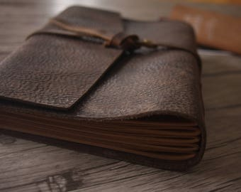 Rustic Leather Journal Sketchbook, Handmade Leather Diary Journal, Leather Sketchbook, Treasury Diary Note Writing Book