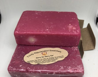 All Natural Raspberry Soap Bar