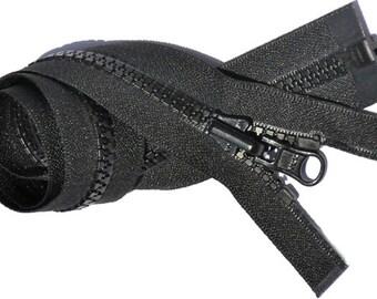 "27 "" Jacket Zipper Reversible Slide - YKK 5 VISLON Separating Bottom - Select Color Black~ZipperStop Wholesale Authorized Distributor YKK®"