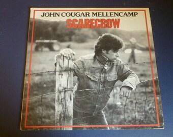John Cougar Mellencamp Scarecrow Vinyl Record LP 824 865-1 RIVA  PolyGram Records 1985