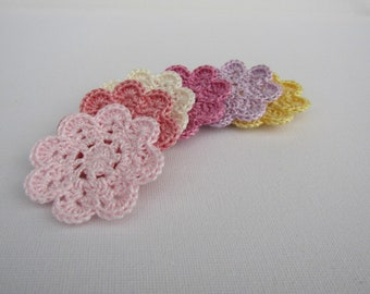 Crochet doilies, doily appliques, crochet appliques