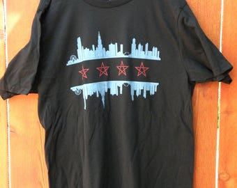 Chicago Flag with Pentagrams Blessed shirt