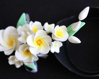 Plumeria Gum Paste Flowers - Wedding Cake Decoration