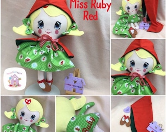 Little Red Riding Hood Handmade To Order Doll