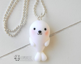 White seal, Seal white, necklace, Necklace