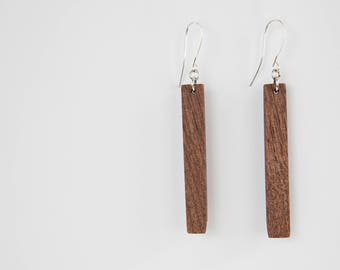 Wood Dangle Earrings