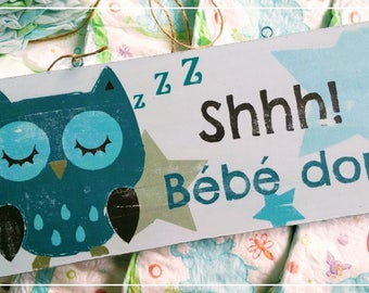 Decorative plate SHHH! BABY SLEEPS